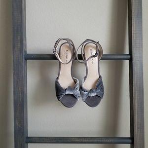 Bebe | velvet grey heels
